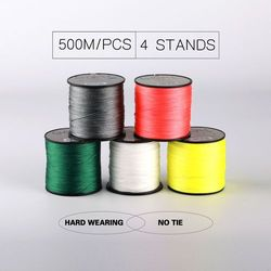 500M Brand fishing Line 4Stands GOAL Japan Multifilament 100% PE Braided Fishing Lines 6LB to 120LB daiwa abu
