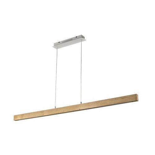 Lampa wisząca NAMU srebrna z drewnem LED INSPIRE