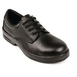 Sznurowane buty ochronne unisex | czarne | rozmiary 36-47