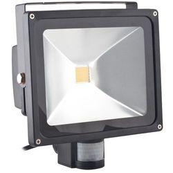 Superled Oprawa lampa naświetlacz halogen Led 50W barwa ciepła z czujnikiem ruchu PIR