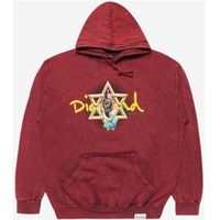 bluza DIAMOND - Star Of David Hoody Mineral Wash Black (BLK)