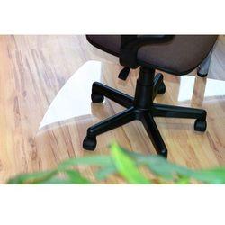 Mata ochronna pod krzesło biurowe - 100x140cm - ergonomiczny kształt, krystaliczna