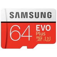 Karta pamięci SAMSUNG EVO Plus 64GB MicroSD MB-MC64HA/EU + adapter