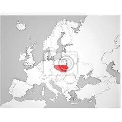Naklejka Mapa Europy z flagą Polski