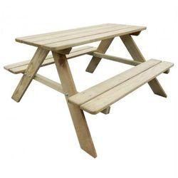 Drewniana ławka piknikowa dla dzieci 89 x 89,6 x 50,8 cm Zapisz się do naszego Newslettera i odbierz voucher 20 PLN na zakupy w VidaXL!