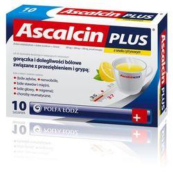 ASCALCIN PLUS smak cytrynowy 10 saszetek