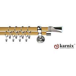 Karnisz Metalowy Prestige podwójny 25/25mm Loca INOX - pinia
