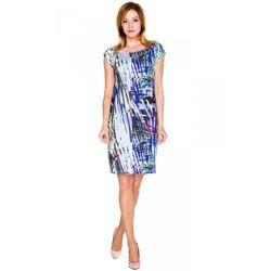 Niebieska sukienka we wzory - Vito Vergelis
