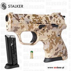 Pistolet alarmowy hukowy Stalker M906 KAMUFLAŻ Desert amunicja 6mm ruchomy zamek - Nowość
