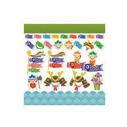 Foto naklejka samoprzylepna 100 x 100 cm - Dzień Dziecka Dano Chłopcy ilustracje reklamowe karp
