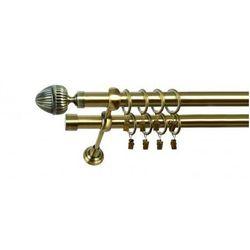 Karnisz Podwójny MARTA Ø19/19mm Milano : dlugosc karniszy - 280 cm, Rodzaj - Metalowy, Kolor Karnisza - Tytan, Mocowanie - Ścienne