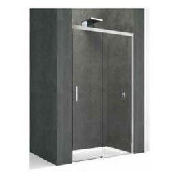 Drzwi przesuwane Novellini Kali PH 96, zakres regulacji 98-99,5 cm, profil srebrny, szkło przeźroczyste KALIPH96-1B