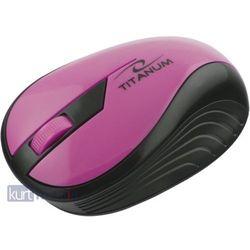 TITANUM Bezprzewodowa Myszka Optyczna 3D TM114P | 2.4 GHz | 1000 DPI | Różowa
