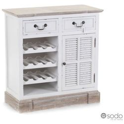 Komoda z szufladami i miejscem na butelki wina PALIDA - Aluro