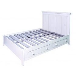 Stylowe łóżko z szufladami
