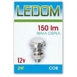 Lampa meblowa LED COB 12V 2W biała ciepła