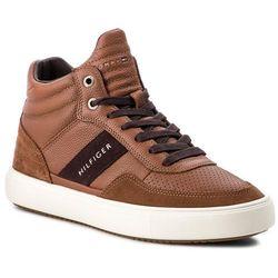 beb2c77912193 Sneakersy TOMMY HILFIGER - Lightweight Material FM0FM01702 Cognac 606