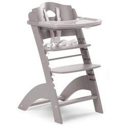 Regulowane krzesło do karmienia z tacką Lambda 2 jasny szary