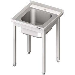 Stół ze zlewem jednokomorowym bez półki STALGAST 600x700x850