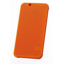 ORYGINALNE ETUI Dot View HTC HC M130 Lite Pomarańczowe do HTC Desire 510 - Pomarańczowy