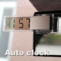 Free shipping Durable Digital LCD Display Car Electronic Clock With Sucker Cool E#A3