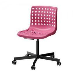 SKALBERG / SPORREN Krzesło obrotowe, różowy, czarny