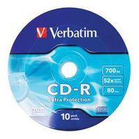 CD-R VERBATIM 700MB EXTRA PROTECTION WRAP (10 SPINDEL)