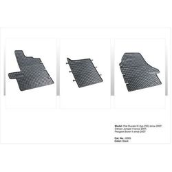 Dywaniki gumowe czarne z kompletem stoperów - Citroen Jumper (II) od 2006