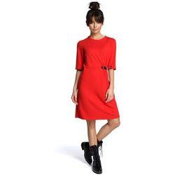 324314fd78 suknie sukienki xxl normah czerwona szmizjerka z dresu (od Czerwona ...
