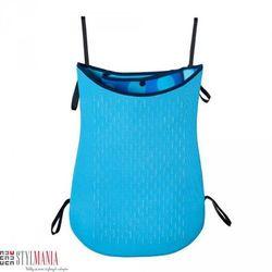 Dwustronna torba na wózek z neoprenu 40 Settimane niebieska w kropki