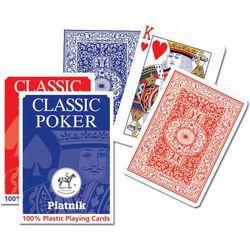 Karty do gry Piatnik 1 talia, Plastik Poker