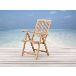 Drewniane krzeslo ogrodowe - regulowane oparcie - RIVIERA