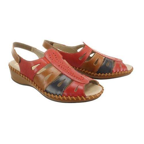 2e5636cbc08a6 RIEKER N1676-33 red combination, sandały damskie - porównaj zanim kupisz