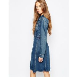 M.i.h Jeans Button Front Fitted Denim Dress - Blue