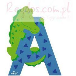 Drewniana literka A, zwierzęta