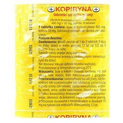 Kopiryna od bólu głowy tabl. 0,4g+0,05g 6 tabl. (1 blist.po 6 szt.)