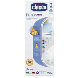 Chicco Butelka plastikowa Well-Being 150ml 0m+ niebieska