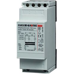 Transformator dzwonkowy Grothe 14201 GT 3148, 230V/8V AC, 1A, na szyne DIN