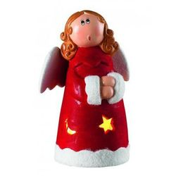 Dekoracja Hedvig anioł 21cm 10 lampek ceramiczna Markslojd 700247