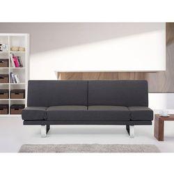 Sofa z funkcją spania ciemnoszara - kanapa rozkładana - wersalka - YORK
