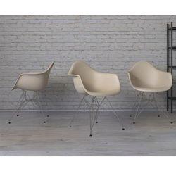 Krzesło P018PP beżowe, chrom nogi HF - beżowy