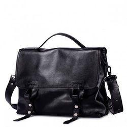 Luksusowa męska torba na ramię Czarna