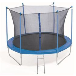 PLATINIUM 305 cm - Zestaw trampoliny z siatką zabezpieczającą - Niebieski