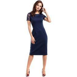 4b5d991ecf suknie sukienki sukienka wieczorowa granatowa midi plus size ...