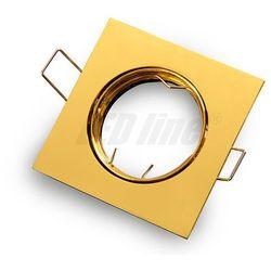 Oprawa halogenowa sufitowa kwadratowa ruchoma, odlew - złota