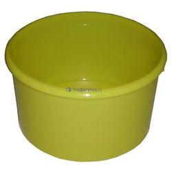 Okrągły pojemnik plastikowy bez pokrywy 2l (Kolor: żółty)