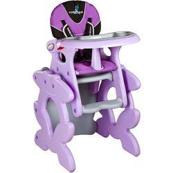 Krzesło do karmienia CARETERO ze stoliczkiem Primus fioletowy + DARMOWA DOSTAWA!