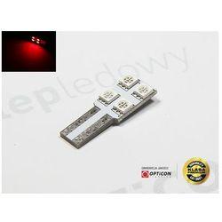 Żarówka Led W5W T10 4x SMD 5050 CANBUS LONG Czerwony