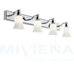 Bathroom kinkiet 4 chrom mleczne szkło IP44
