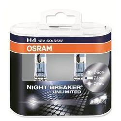 H4 NIGHT BREAKER UNLIMITED duobox (+110%) - żarówka samochodowa 64193NBU Osram
